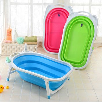 Baby Infant Newborn Bath Bathtub Bathing Folding Safety Foldable Tub Durable