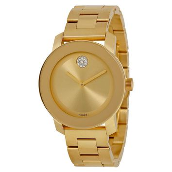 Movado Bold Yellow Gold Ion-plated Stainless Steel Ladies Watch 3600104