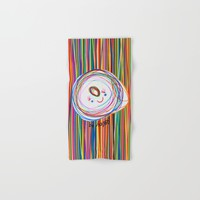 Be Happy | Smile | Stay Child | Kids Painting Hand & Bath Towel by Azima