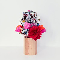 Origami flowers bouquet folded with colored paper by inoowdesign