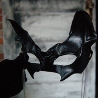 Vampire cat leather mask catwoman with vampire by Midnightzodiac
