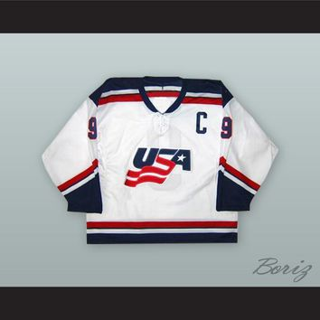 Mike Modano 9 USA National Team White Hockey Jersey