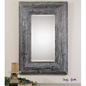Uttermost Galend Distressed Wood Mirror
