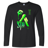 Scream stab adult Horror scary long sleeve unisex long sleeve shirt