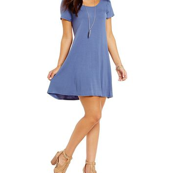 GB Knit Crossback Short-Sleeve Dress | Dillards