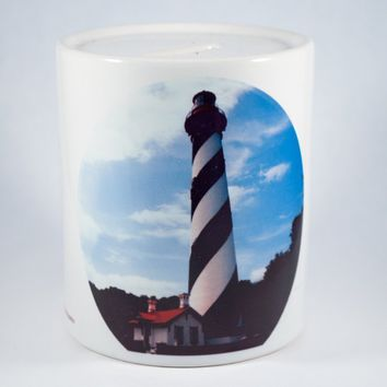 Coin Bank, Ceramic, St Augustine Lighthouse Design