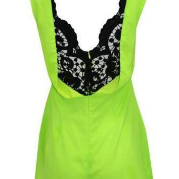 Lime Light Lace Romper