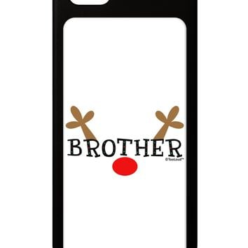 Matching Family Christmas Design - Reindeer - Brother iPhone 5 / 5S Grip Case  by TooLoud