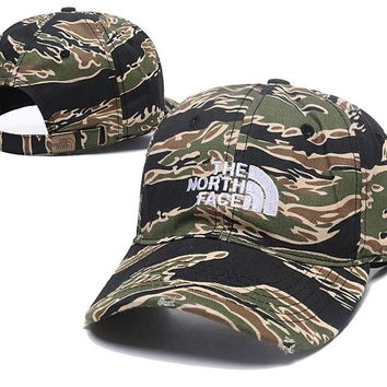 The North Face Embroidered Brown Cotton Baseball Cap Hats