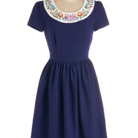 Bea & Dot Mid-length Short Sleeves A-line Trip to Helen Dress