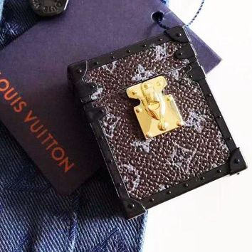 LV Louis Vuitton Newest Stylish iPhone Airpods Headphone Case Wireless Bluetooth Headphone Protector Case(No Headphones) 2#
