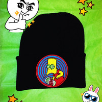 Bart Simpsons Beanie // The Simpsons Inspired Hat // Unisex Grunge