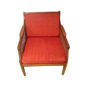 Pre-owned Mid-Century Modern Danish Cane Side Chair