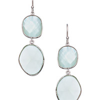 Piara by Elaine J Aqua Chalcedony Double Drop Earrings - Max & Chloe