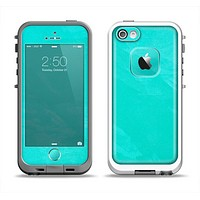 The Subtle Neon Turquoise Surface Apple iPhone 5-5s LifeProof Fre Case Skin Set