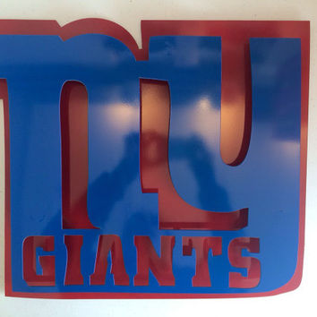 New York Giants metal sign 2D, metal art