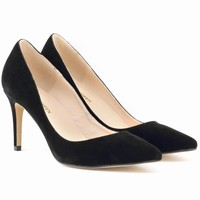 Classic Pointed High-Heeled Shallow Shoes