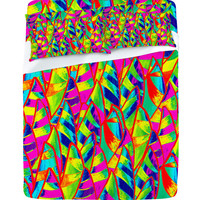 DENY Designs Home Accessories | Renie Britenbucher Abstract Sailboats Neon Sheet Set