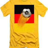 Flaming Germany Soccer Ball T-Shirt for Sale by Gravityx9 Designs