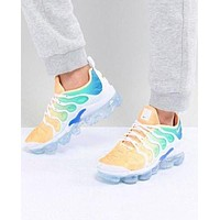 NIKE AIR VAPORMAX PLUS 2018 new fashion air cushion gradient color upper sneakers F/A