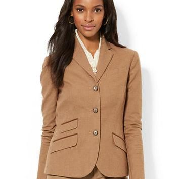 Lauren Ralph Lauren Stretch Houndstooth Jacket