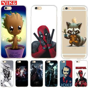 Deadpool Dead pool Taco Raccoon  Joker Soft Case coque For iPhone 7 Plus Cat Case for iPhone X 5s 6S 7 8 Plus Phone Case shell Skin Etui AT_70_6