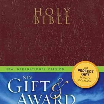 Holy Bible: New International Version, Burgundy, Leather-Look, Gift & Award Bible