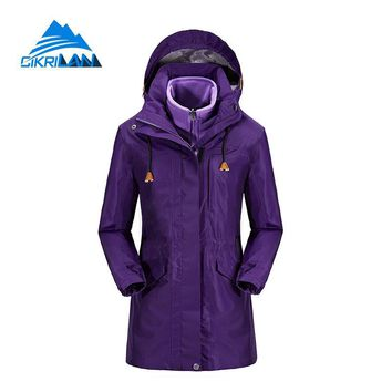 Ladies Winter Hiking Camping Long Coat Snowboard Ski Windstopper Waterproof Outdoor Jacket Women Fleece Liner Chaquetas Mujer