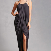 Draped Tulip Maxi Dress