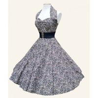 Neckholder Dress Leo / Rockabilly & Pin Up Fashion