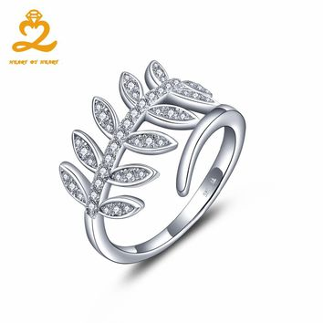 Heart By Heart 2017 New Collection Classic Rings Authentic Laurel Wreath Laurel Leaves 100% Fine 925 Sterling Silver Jewelry
