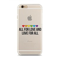 for iPhone 5/5S - Super Slim Case - All For Love And Love For All- Lgbt Pride Day - Inspirational Quotes - Love Quotes (C) Andre Gift Shop