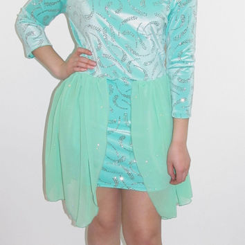 Bright Mint High Low Party Dress