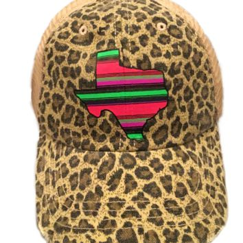 Women's Summer Cheetah Texas Serape Trucker Hat