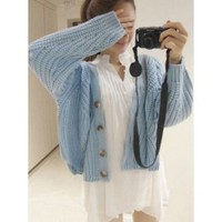 Knitted Sky Blue Cardigan