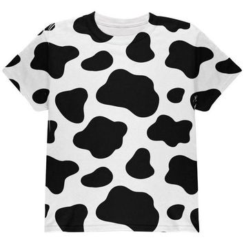 DCCKJY1 Cow Pattern Halloween Costume All Over Youth T Shirt