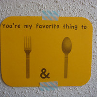 Anniversary Card Funny Adult You're My Favorite by CraftColorfully