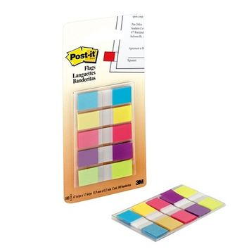 Post-it Flags Assorted 5-pk. .5in x 2in