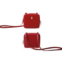 YiZi Leather Mini Crosbody Bag/Red FXXK