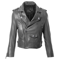 Moto Crop Leather Jacket