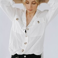 Matilda White Button Down