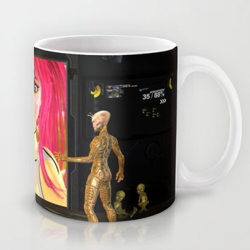 Sci-Fi Martians Alien Princess  Mug by Apgme