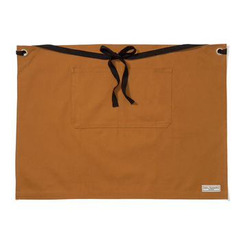 REGGIE HALF APRON, TAN DUCK CANVAS