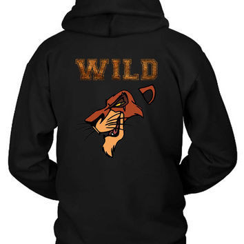 Scar The Wild Lion King Hoodie Two Sided
