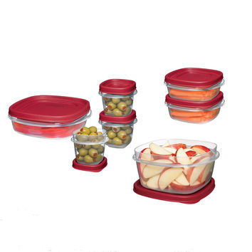 Rubbermaid Easy Find Lid Food Storage Container BPA-Free Plastic 18-Piece Set...