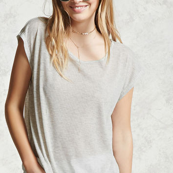 Semi-Sheer Ribbed Top