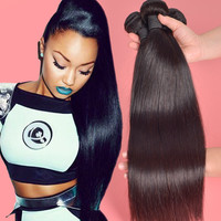 "Grade 7A Peruvian Virgin Hair Straight 3 Bundles Human Hair Peruvian Straight Virgin Hair 8""-28"" Puruvian Straight Hair Bundles"
