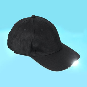 LandFoxNew Fashion  LED Cap Glow Reading Light Up LED Sport Hat Travel Hat Cap HYM10&00 GS