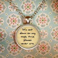 Moby Dick Necklace, Herman Melville, Call Me Ishmael, Literature, Quotes, Steampunk, Nautical, Ahab and the Whale T1173