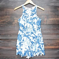 blank space floral cut out lace romper